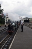 "RH&DR No.3 ""Southern Maid"" arrives into New Romney with the 1245 Hythe - Dungeness"