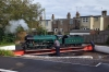 """RH&DR No.3 """"Southern Maid"""" is turned on the turntable at Hythe in readiness to work the 1700 Hythe - Dungeness"""
