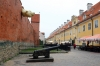 Latvia, Riga - Old fortification walls (L) & Jacob's Barracks (R)