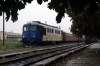 CFR Sulzer 601386 stands in the pouring rain at Alexandria having just arrived with R9365 1035 Rosiori Nord - Alexandria