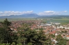 Romania, views from the viewing platform after getting out of the lift/elevator to Rasnov Fortress