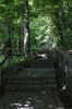 Romania, Sinaia - steps leading towards Sinaia Monastery