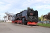Steam Loco 150-139 plinthed at Cluj Napoca