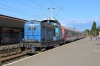 CFR 80-0598 shunts stock, left behind at Brasov by IR1622 0745 Timisoara Nord - Bucuresti Nord Gara A