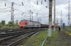 RZD 3ES5K-131 arrives into Tayshet with a freight