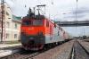 RZD EP1-057 waits to depart Ilanskaya with 075E 0457 (30/05) Neryungri Pas. - Moskva Kazanskaya