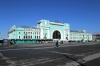 Russia, Novosibirsk - Novosibirsk Glavniy station main entrance