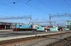 RZD TEM18DM-411 shunts a set of stock at Novosibirsk Glavniy