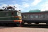 RZD oldie ChS2-781 standing in the station at Novosibirsk Glavniy
