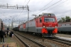 RZD 2ES10-131 runs into Perm 2 with a freight
