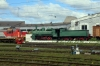 Perm 2 Locomotive Depot - Steam Loco OV-014 and RZD TEM18DM-914