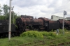 Perm 2 Locomotive Depot - Steam Loco ???? in a scrap line of three locos