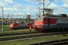 RZD VL11M-243B & VL11M-303B lead their respective triplets in Perm 2 Yard