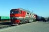 RZD TEP70-0537 waits to depart Khasan with 651 1500 Tumangang (North Korea) - Ussuriysk (Russia)