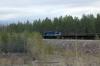 AYaM TEM2MK-8355 shunting in a ballast siding near Aldan station