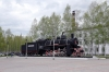 Steam Loco YE-3246 plinthed outside Tynda station