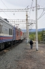 RZD EP1-223 at Taksimo having just taken over 075E 0457 (30/05) Neryungri Pas. - Moskva Kazanskaya; this is the current limit of electrification east on the BAM
