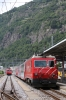 MGB HGe4/4II #108 waits to depart Brig Bahnhofplatz with GEX906 1410 Brig - St Moritz