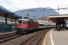 SBB Re4/4 11198 waits at Arth Goldau with IR2417 1009 Zurich Hbf - Locarno