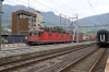 SBB Cargo Re6/6 11672 leads Re4/4 11334 through Arth Goldau with a freight