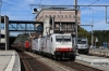 Crossrail 186903/186905 at Spiez with a freight