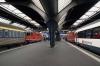 SBB Re4/4's at Zurich Hbf (R-L) - 11111 ex IC920 1039 Chur - Zurich Hbf & 11114 ex EN464 Graz Hbf - Zurich Hbf (2h30m late)