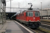 SBB Re4/4's 11158/11140 depart Landquart with IC913 0807 Zurich Hbf - Chur
