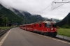 RhB Ge4/4II 628 arrives into Schiers with RE1224 0840 Scuol-Tarasp - Disentis
