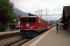 RhB Ge6/6II 702 arrives into Domat/Ems with 4221 0753 Ilanz - Chur mixed train