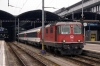 SBB Re4/4 11125 waits to depart Luzern with EC153 0847 Luzern - Milano Centrale