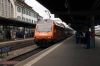 SBB 460063 (in Easyjet livery) arrives into Thun with IC1068 1120 Brig - Basel