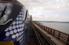 68007 approaches the Forth Bridge with 2L69 1719 Edinburgh - Cardenden