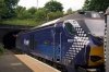 68007 waits the tip at North Queensferry while working 2L69 1719 Edinburgh - Cardenden