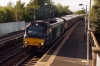 68002 arrives into Dalmeny, off the Forth Bridge, with 2K14 1814 Glenrothes with Thornton - Edinburgh