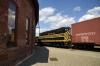 EMD GP7 #514 was used on brake van rides at the Scranton Railfest, seen here within Scranton yard