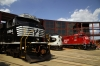 Norfolk Southern GM SD60E 6904, Norfolk Southern F9A 4271 & Canadian Pacific GP9u #8244 at Scranton Steamtown Roundhouse during the 2012 Railfest