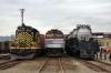 """EMD GP9 #514, Amtrak Cab Car #406 & Alco """"Big Boy"""" #4012 at Scranton during the 2012 Railfest"""