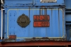 Ex JZ steam loco 11-022 plinthed outside Beograd station
