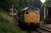 31101 arrives into Shackerstone with a driver experience train; before working the first train of the day back to Shenton