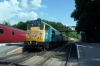 31101 at Shackerstone after arrival with the 1650 Shenton - Shackerstone