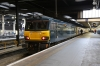 92010 stands on the blocks at Euston after arrival with 1M16 2044 (P) Inverness - Euston