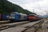 LTE Logistik 2016903 arrives into Borovnica with a freight, where SZ 363027 would replace it; standing waiting for further freight to arrive are 363016, 002 & ???