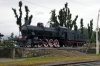 Steam loco 740121 plinthed at Postojna