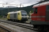 Hired MRCE Dispolok 223003 (numbered 645003 by SZ) stands at Borovnica with SZ 363002