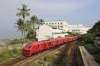 SLR Class S11 DMU 901 departing Mount Lavinia towards Colombo during the morning rush-hour