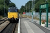 31206 shunts out at Eridge to drop onto the stock to form the 1230 Eridge - Tunbridge Wells West