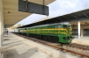 PTG Alco Holic 5 Tour Day 1 - ALSA SECN DL500S's 321050/321059 (carrying 2148) wait to depart Caceres with 39131 1532 Caseres - Merida