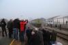 PTG Alco Holic 5 Tour Day 2 - ALSA SECN DL500S's 321059 (carrying 2148)/321050 wait at Jabugo-Galaroza with 37344 0740 Zafra - Huelva Mercancias