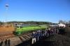 PTG Alco Holic 5 Tour Day 2 - ALSA SECN DL500S's 321059 (carrying 2148)/321050 wait at Valdelamusa with 37344 0740 Zafra - Huelva Mercancias