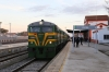 PTG Alco Holic 5 Tour Day 2 - ALSA SECN DL500S's 321050/321059 (carrying 2148) at Zafra after arriving with 37345 1309 Huelva Mercancias - Zafra